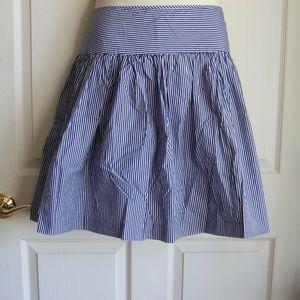 GAP Striped Full Pleated Skirt